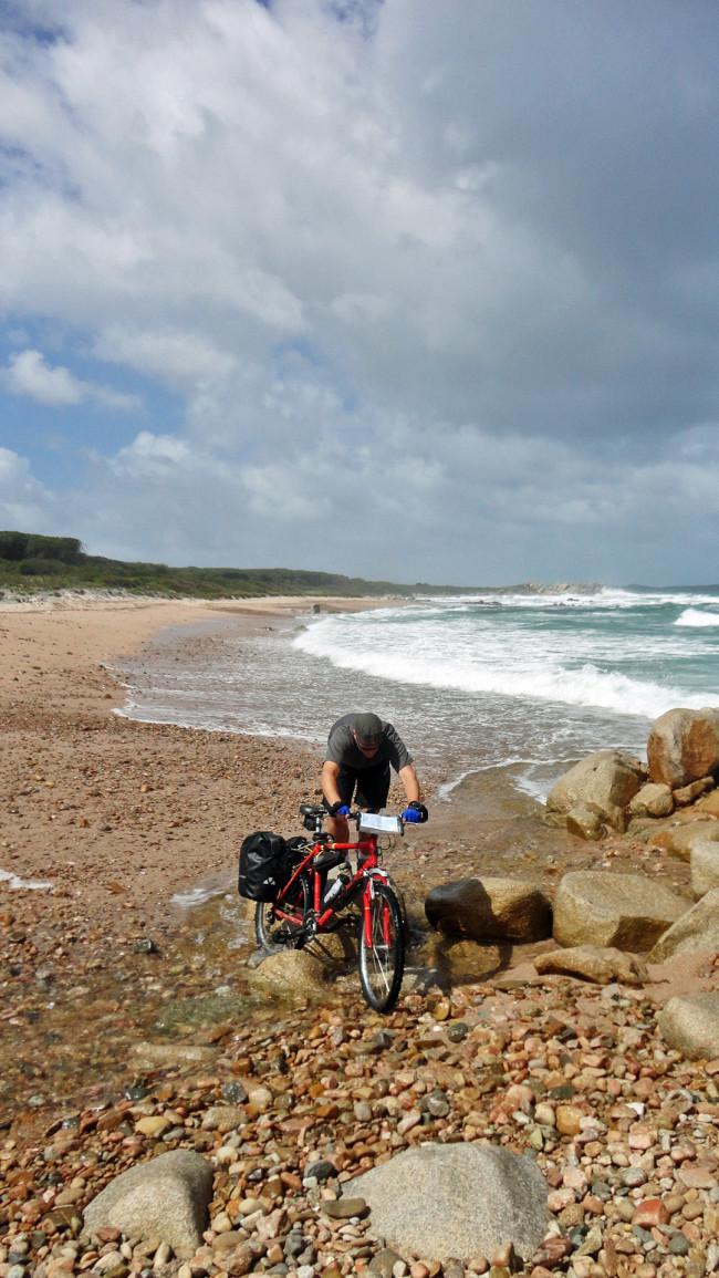 A VTT sur les plages