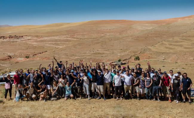 Le groupe dans l'Atlas