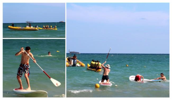 Relai paddle board, planche à voile et banana boat en relai