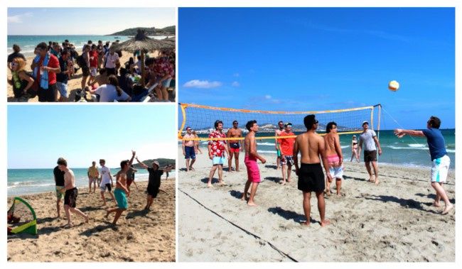 Tournoi beach soccer, beach volley et beach tennis