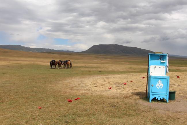 Rives du lac Son Kol - Voyage insolite VTT, idées séminaires teambuilding KirghizieRives du lac Son Kol - Voyage insolite VTT, idées séminaires teambuilding Kirghizie