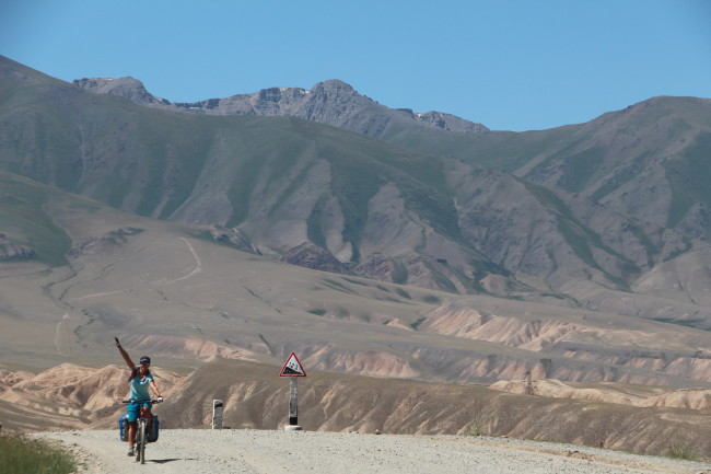 Fin de la montée  - Voyage insolite VTT, idées séminaires teambuilding Kirghizie