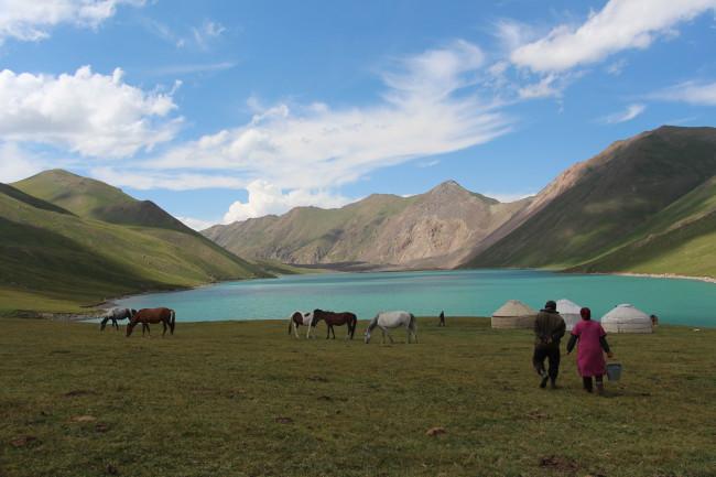Lac de Kul Ukok - Voyage insolite VTT, idées séminaires teambuilding Kirghizie