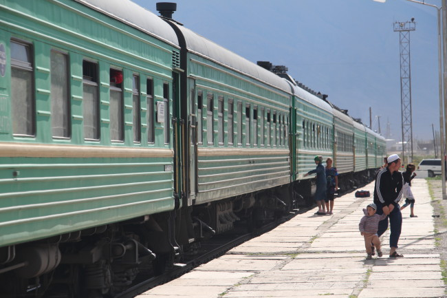 Train - Voyage insolite VTT, idées séminaires teambuilding Kirghizie