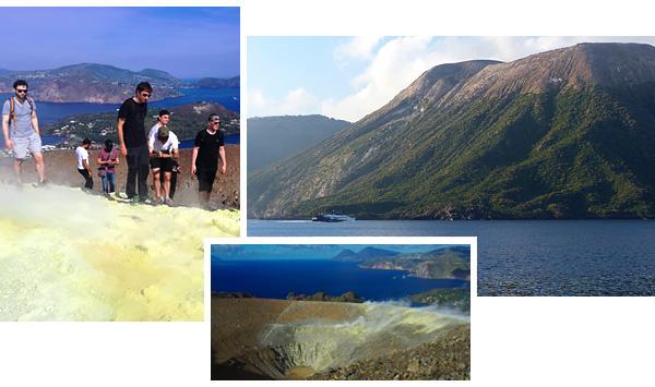 randonnée facile sur le cratère de l'île de Vulcano