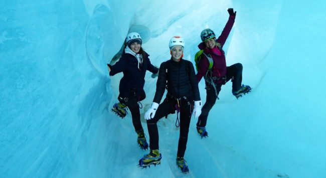 L'équipe Bee-In en exploration dans la mer de glace