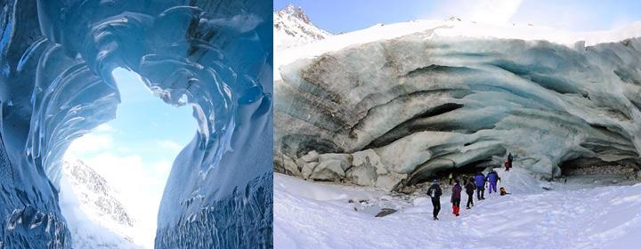 Les vagues et sculptures de la Mer de glace - Chamonix