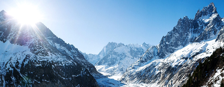 Séminaire montagne : perspective sur la Mer de glace - Chamonix
