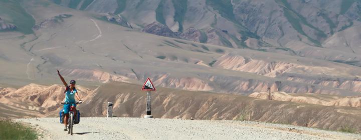 voyage velo en kirghizie