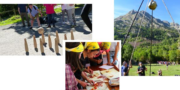 activités de challenge autour de cluture basque