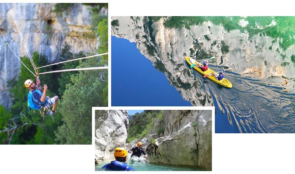 Canyoning, kayak, via corda, un mix parfait pour des activités de séminaire