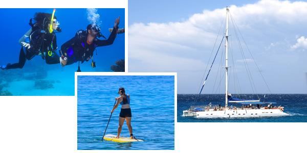Baptême de plongée, stand up paddle et maxi catamaran pour un séminaire décalé